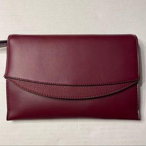 NWT Maroon Wristlet Evening Clutch Womens Bags